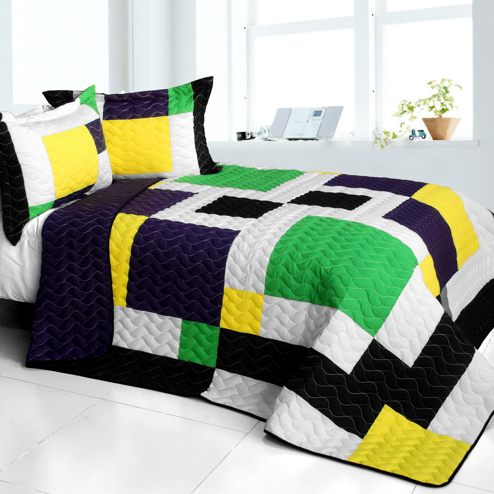 Blancho Bedding [Football Field] 3PC Vermicelli - Quilted...