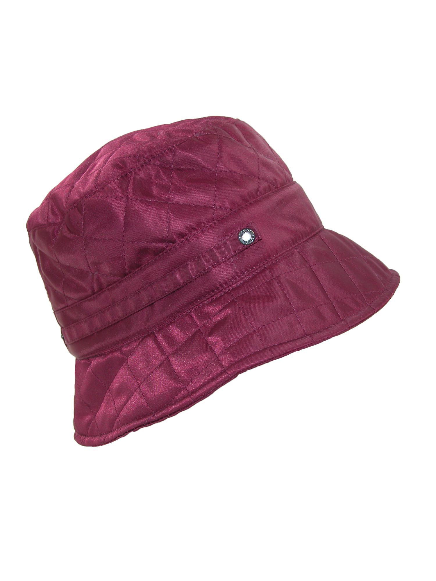 e73fb50bddf Betmar - Betmar Size one size Women s Nylon Quilted Waterproof Bucket Rain  Hat - Walmart.com