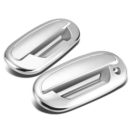 Heritage Chrome 2 Handle - For 97-04  F-150/Heritage 2pcs Exterior Door Handle Cover without Passenger Keyhole/with Keypad (Chrome) 99 00 01 02 03