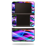 MightySkins Protective Vinyl Skin Decal Cover for Nintendo 3DS XL Original (2012-2014 Models) Sticker Wrap Skins Light Waves