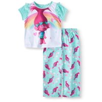 Trolls Short Sleeve Top & Pants, 2Pc Pajama Set (Toddler Girls)