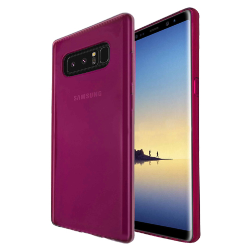 Pink Candy Skin Flexible TPU Case For Samsung Galaxy Note 8 Phone