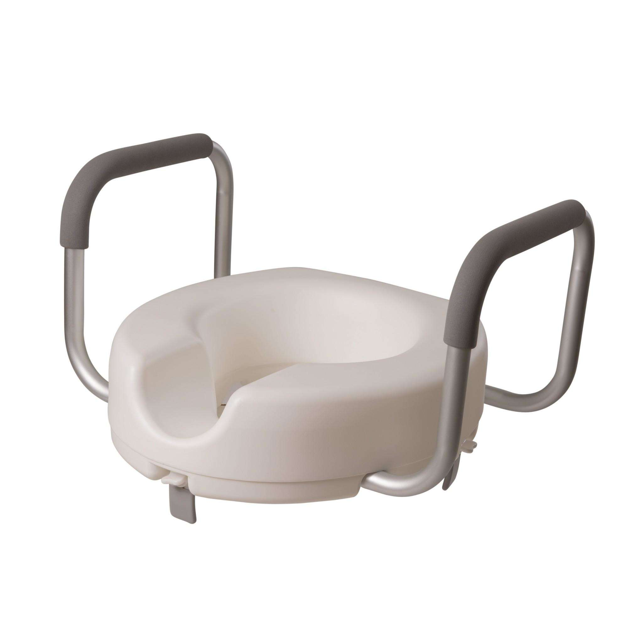 dmi raised toilet seat for standard toilets with arms, handicap