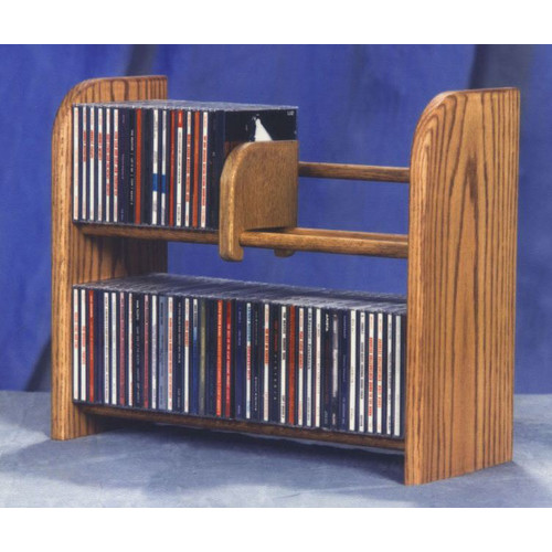 Wood Shed 200 Series 84 CD Multimedia Tabletop Storage Rack