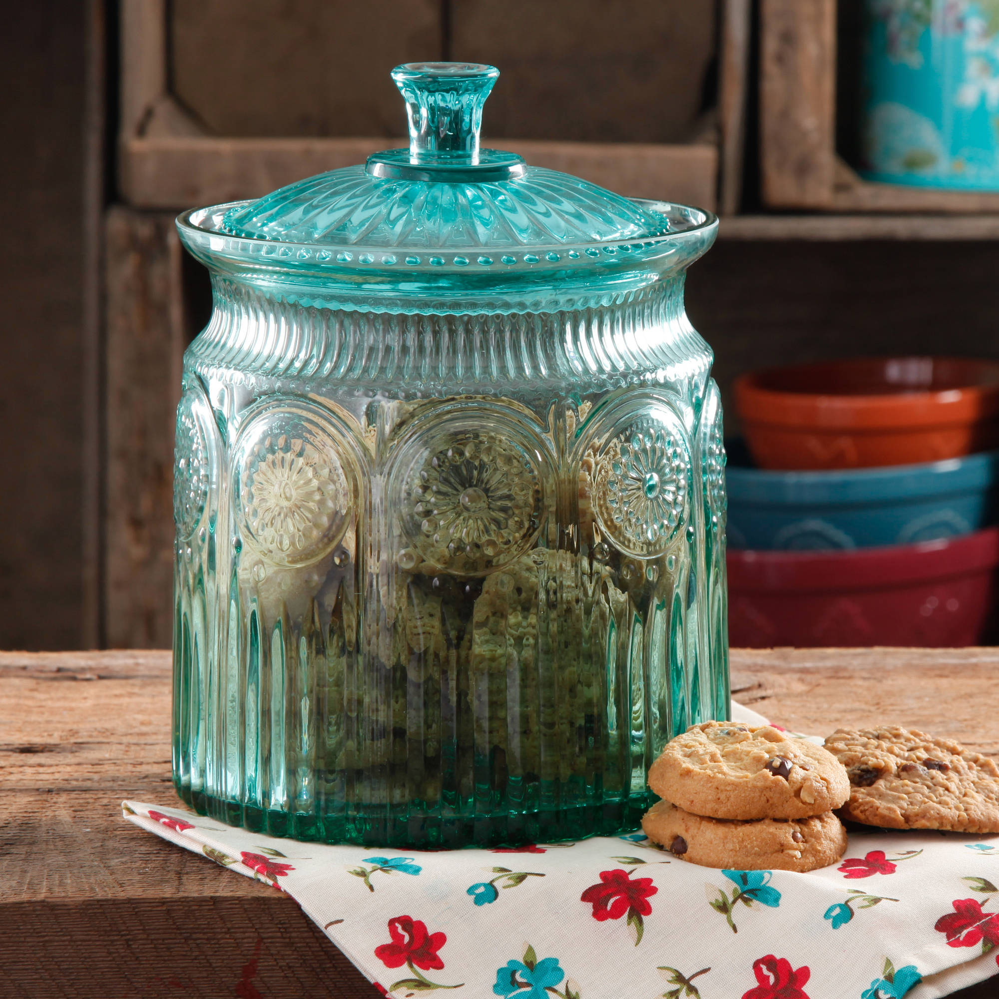 The Pioneer Woman Adeline Glass Cookie Jar