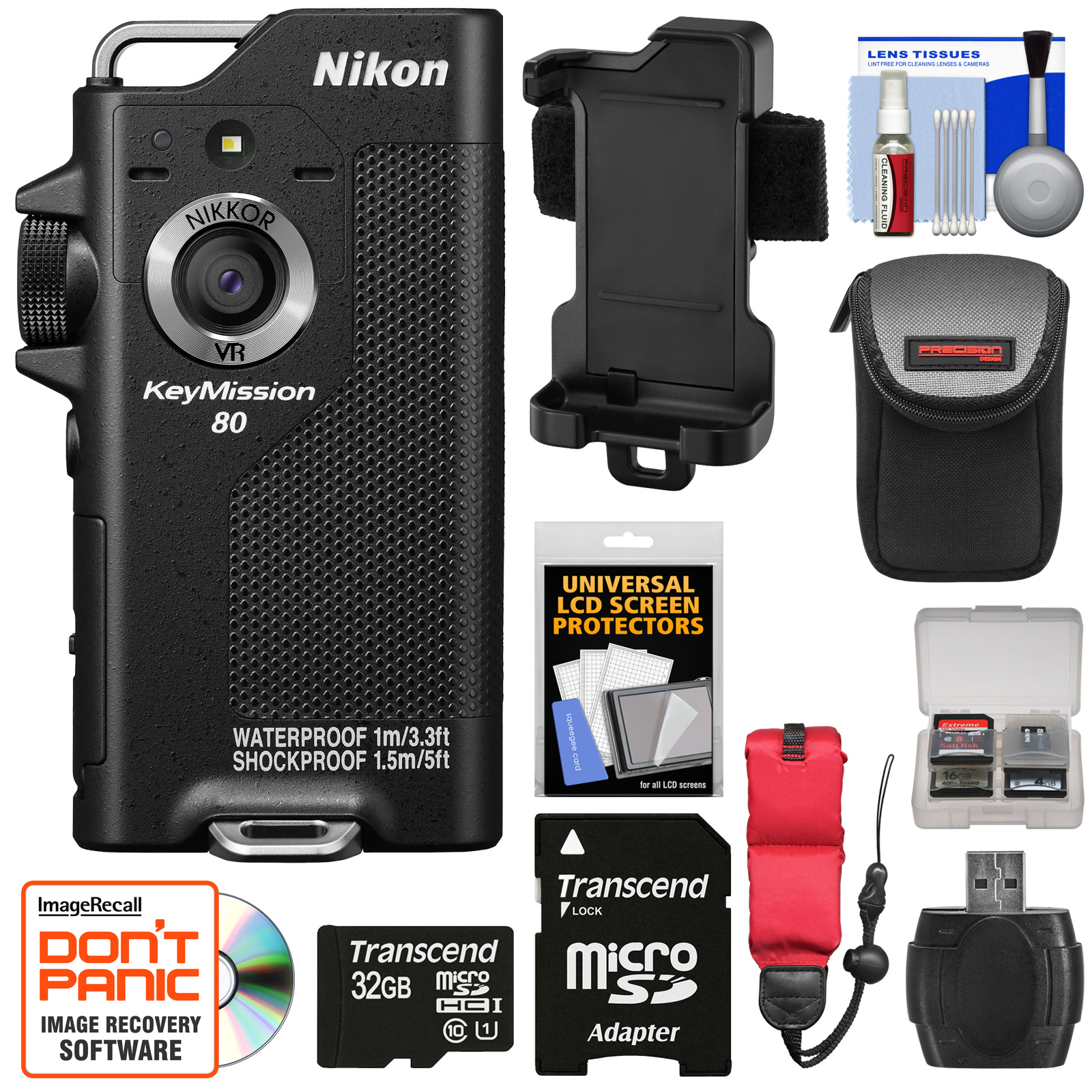 Nikon KeyMission 80 Wi-Fi Shock & Waterproof Digital Came...