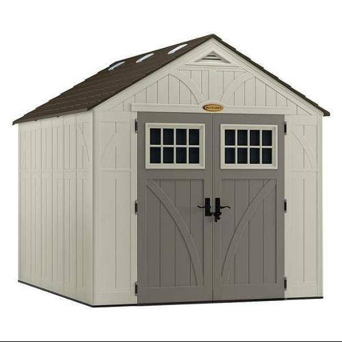 SUNCAST BMS8100 Outdr Storage Shed,100-1/2inWx122-1/4inD G0693150