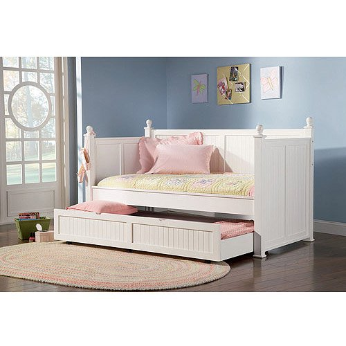 Coaster Twin Daybed With Trundle White Walmart Com Walmart Com