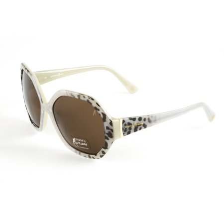 Cream Leopard (GUESS by Marciano Octagon Sunglasses GM659 60mm Cream Leopard)