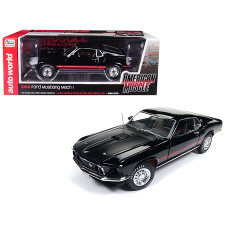 1969 Ford Mustang Mach 1 Raven Black with Red Stripes \Hemmings Muscle Machines\