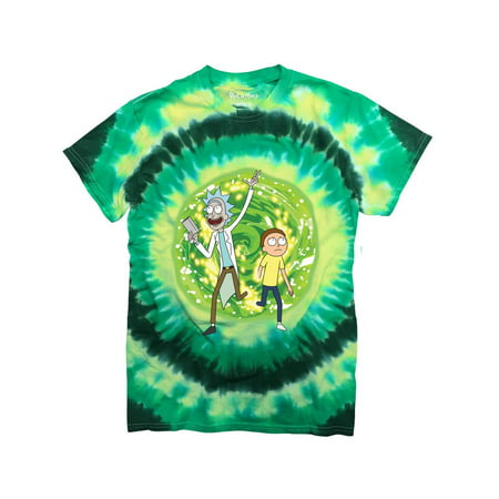 Ripple Junction Rick and Morty Large Portal Adult T-Shirt Green Tye (Best Rick And Morty Shirts)