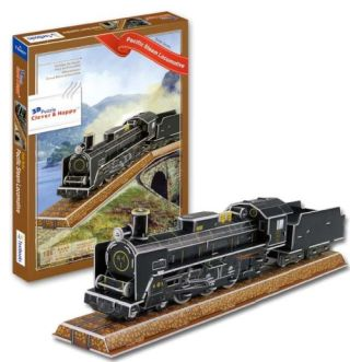 Pacific Steam Locomotive Train 3 D Puzzle Model Kit - image 1 de 1