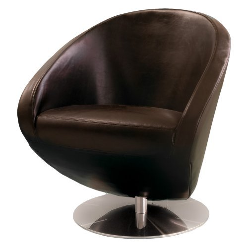 Best Selling Home Decor Modern Brown Leather Roundback Chair