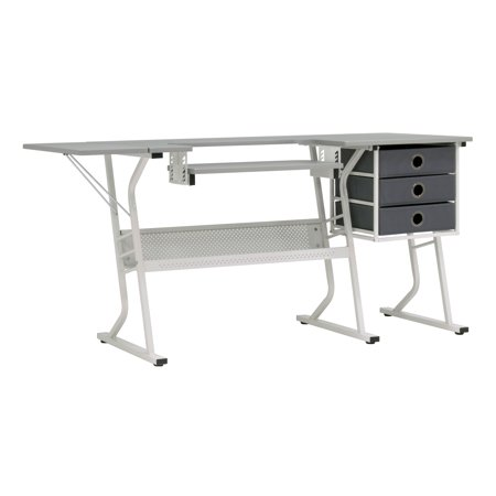 Sew Ready 38010 Eclipse Hobby Center Craft Table Computer Desk with Drawers