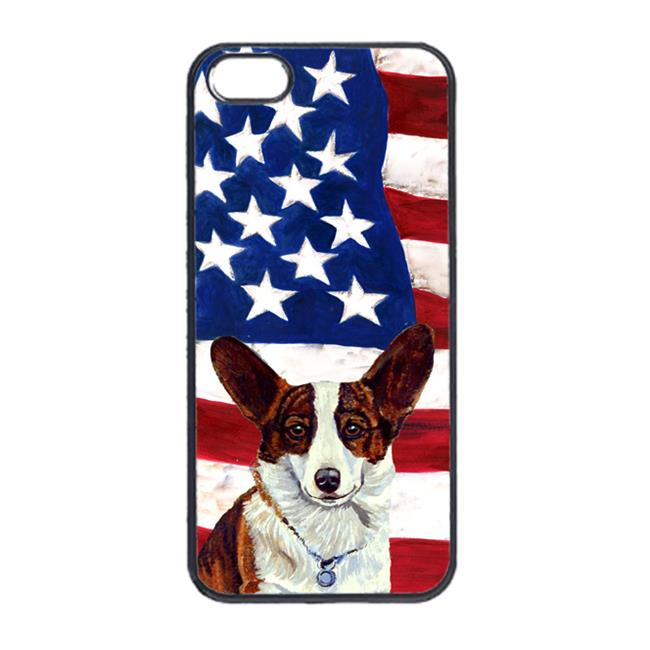 USA American Flag with Corgi  Cell Phone Cover IPHONE 4
