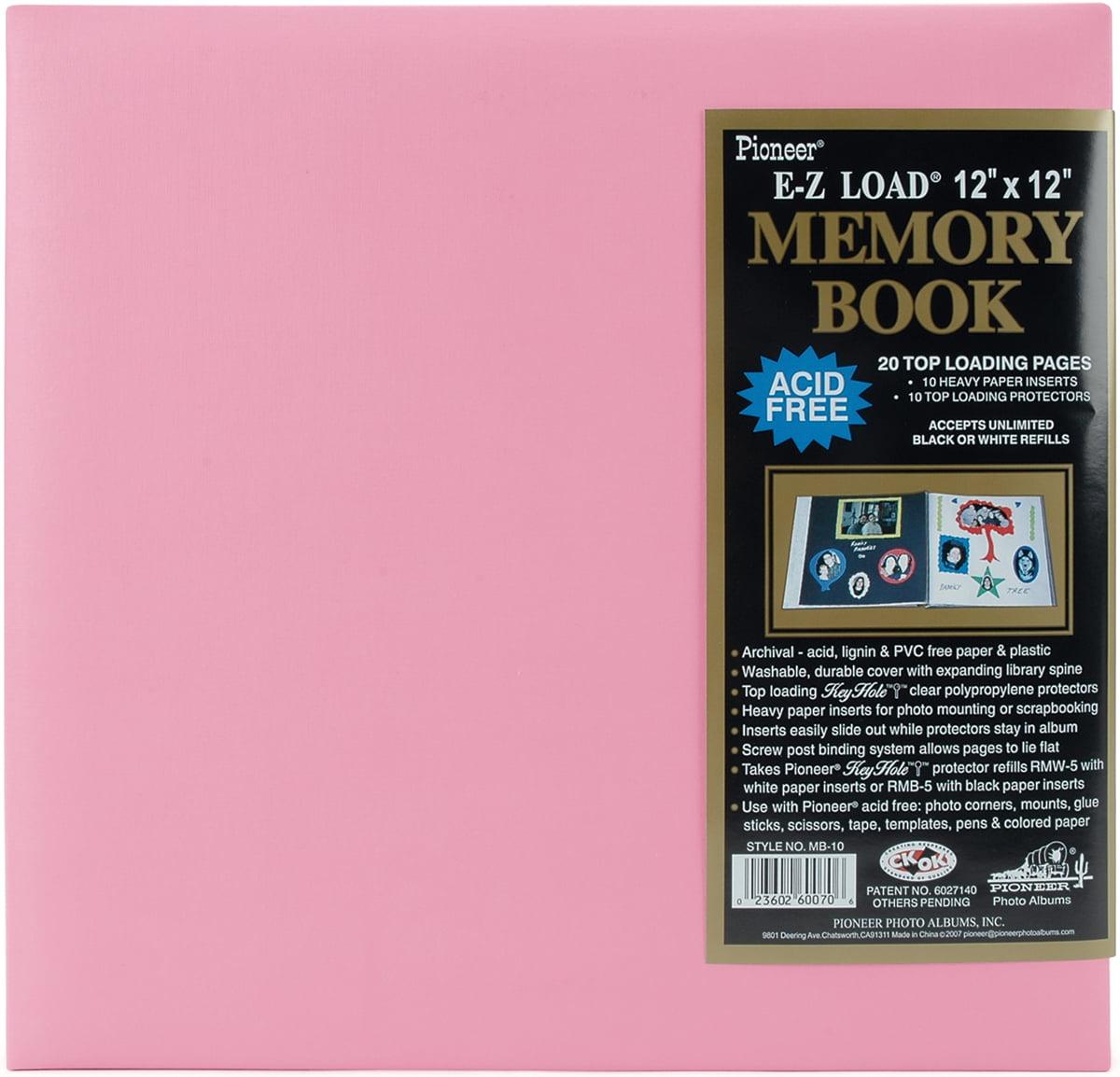 "Pastel Leatherette Postbound Album, 12"" x 12"""