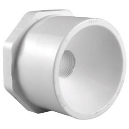- Charlotte Pipe & Found PVC 02107 0800 Pvc Reducer Bushing White 1
