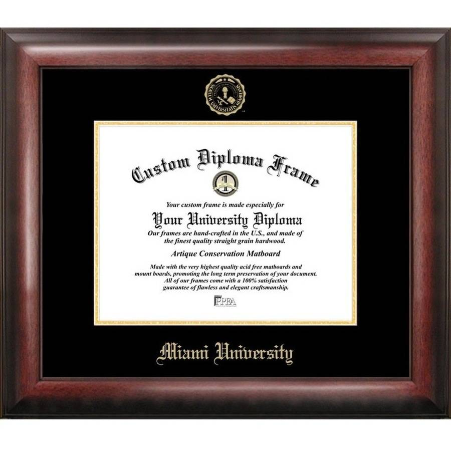 "Miami University Ohio 8.5"" x 11"" Gold Embossed Diploma Frame"