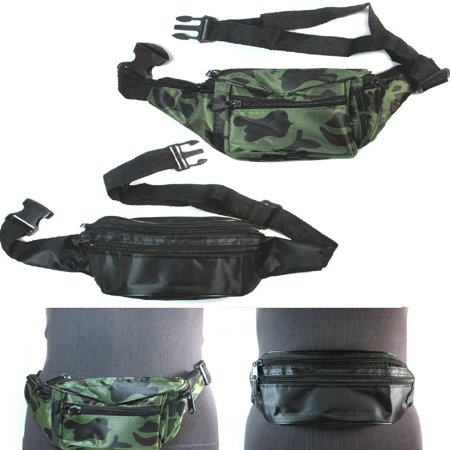 3X Fanny Pack Travel Utility Bag Waist Pouch Belt Hip Adjustable 3 Pocket