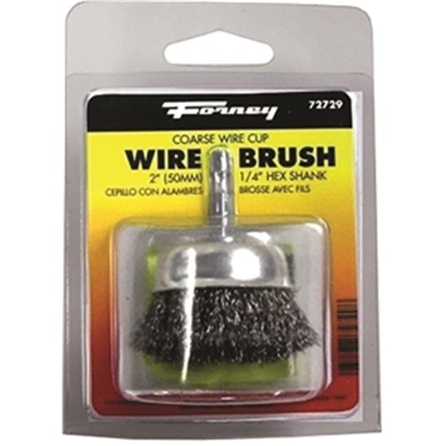 Forney Industries Inc 72729 Brush Cup Crimped Wire 2 x . 012 inch