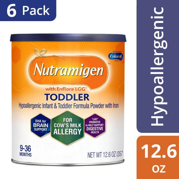 Nutramigen Hypoallergenic Toddler Formula (6 Pack) Powder, 12.6 oz Cans with Enflora LGG by nutramigen
