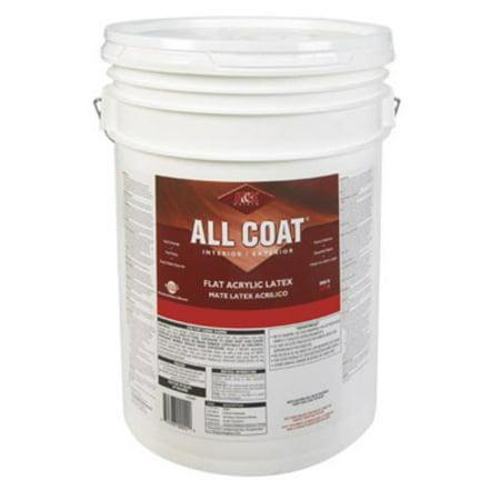 H & K 162M100-8 All Coat Flat Acrylic Latex Paint, 5 Gallon