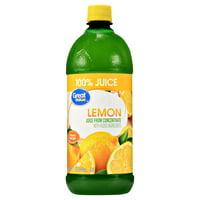 (2 Bottles) Great Value 100% Lemon Juice, 32 Fl Oz