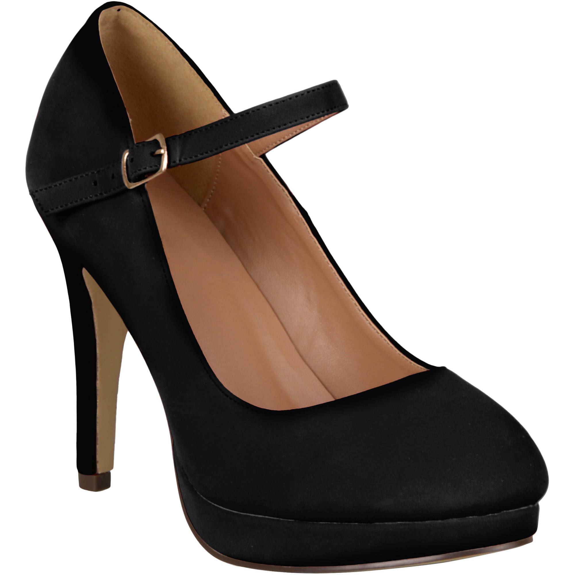 Brinley Co. Womens Wide Width Platform Mary Janes