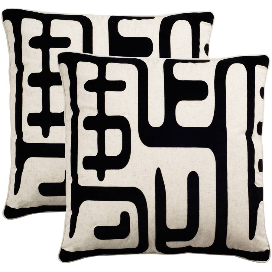 Safavieh Maize Black Pillow, Set of 2