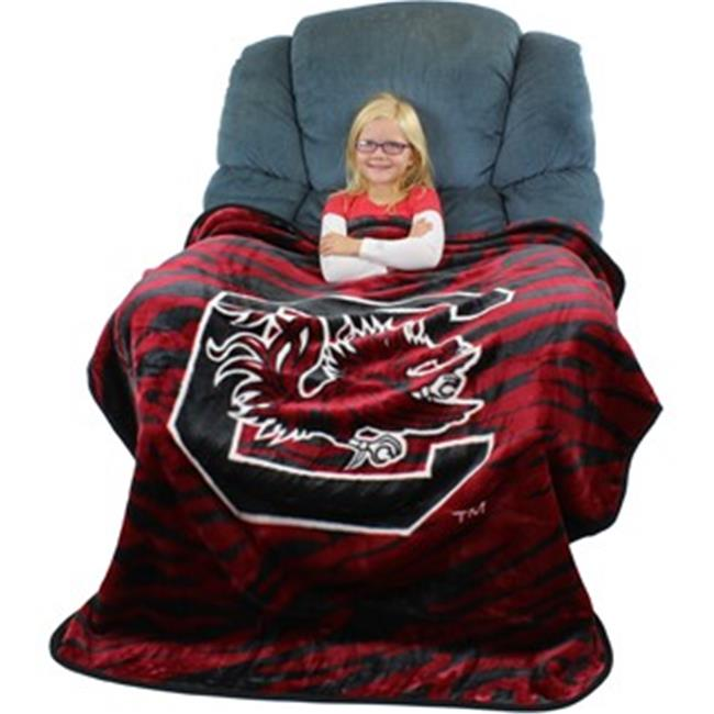 Collegecovers SCUTHSM South Carolina Gamecocks Raschel Throw Blanket - 50 x 60
