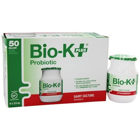 Bio-K Plus - Produits laitiers Culture probiotique 50 milliards CFU saveur de fraise - 6 x 3,5 oz