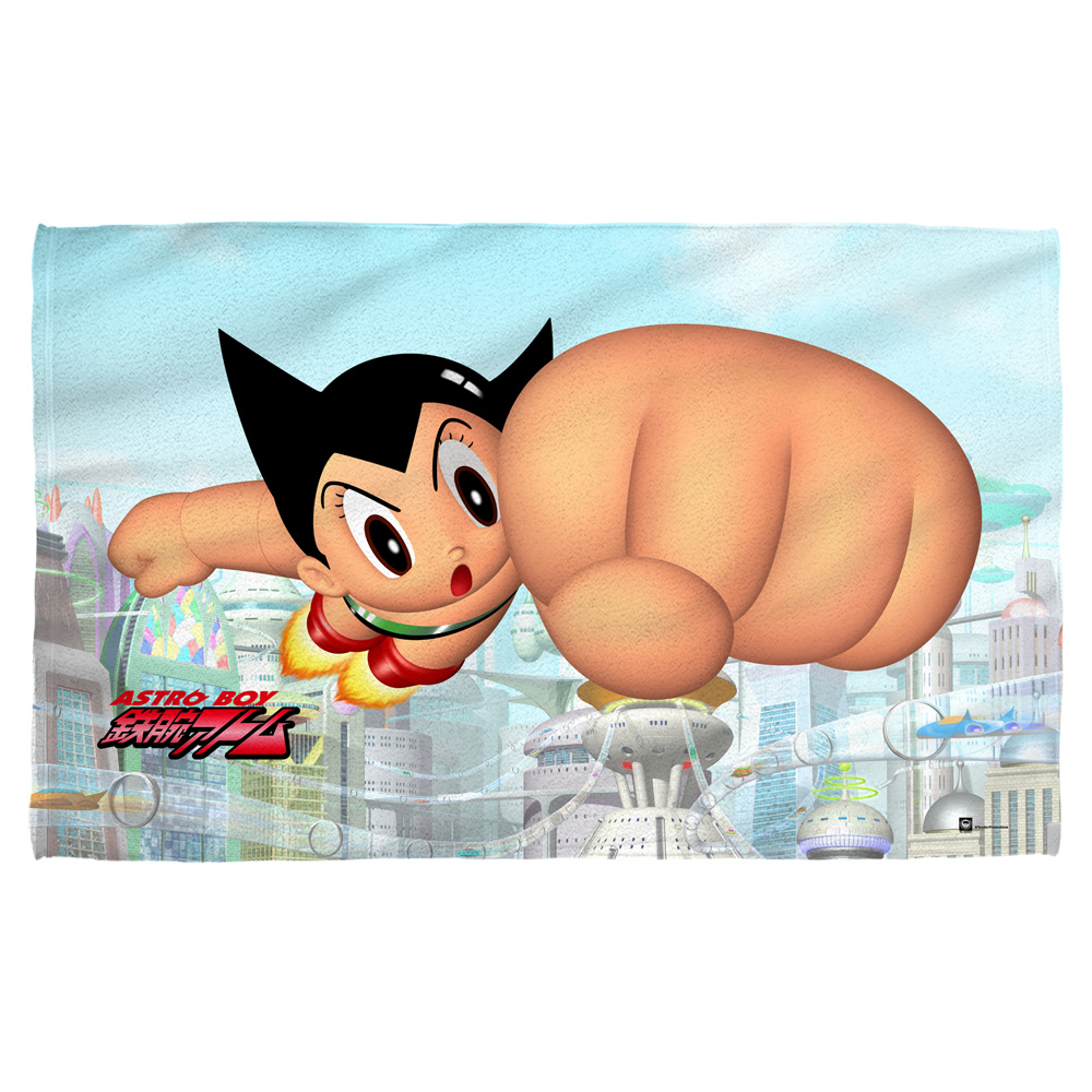 Astro Boy City Boy Beach Towel White 36X58