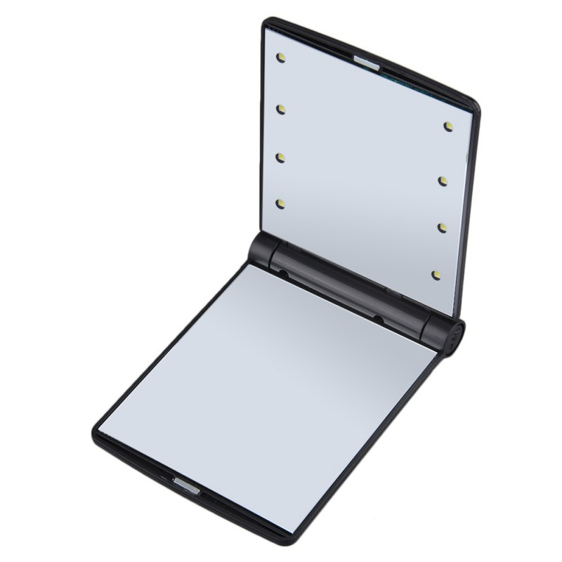 Lighted Makeup Mirror, Supersellers Daily Use Portable Foldable Makeup LED Mirror with 8 LED Lights Lamps, 2X