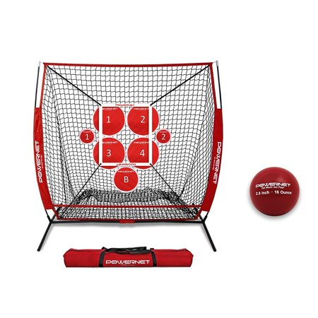 PowerNet Pitching Bundle - Practice Net, Pitch Perfect Target System, Strike Zone and Weighted Training Ball