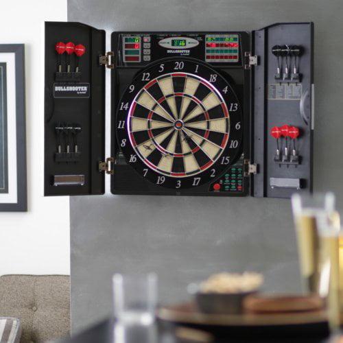 Bullshooter by Arachnid E-Bristle 1000 Electronic Dart Board Complete Set