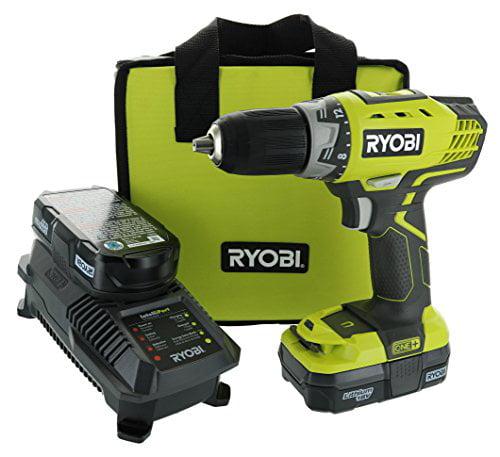 Ryobi P1811 ONE+ 18-Volt Lithium-Ion Compact Cordless Driver Drill by Ryobi