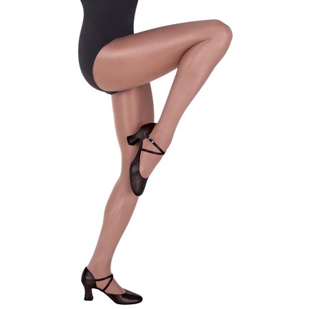 BODY WRAPPERS WOMEN'S PLUS SIZE SHIMMER FOOTED DANCE TIGHTS