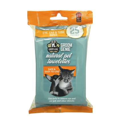 Groom Genie™Sensitive WIPES - 25pc.Soft-Pack (Fragrance Grooming Wipes)