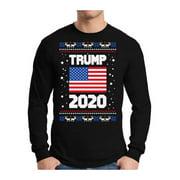 Awkward Styles Xmas Donald Trump Ugly Christmas Sweater Long Sleeve T-shirt For Men