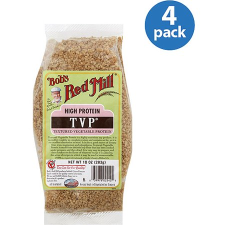 Bob's Red Mill Textured Vegetable Protein Powder, Unflavored, 12g Protein, 10.0oz, 4