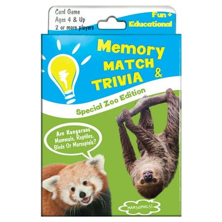 Tree-Free Greetings Memory Mach Zoo Kids Game-KG13401 (Kids Free Games)