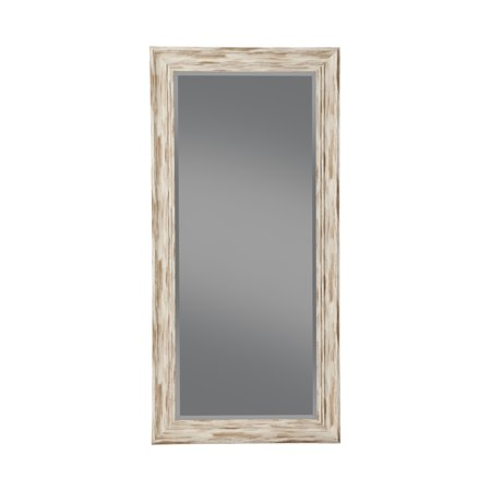 "Full Length Leaner Mirror, Farmhouse Antique White Wash, 65""x31"", By Sandberg Furniture"