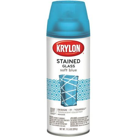 Krylon Stained Glass Paint 11.5oz Soft Blue Blue Acid Stain