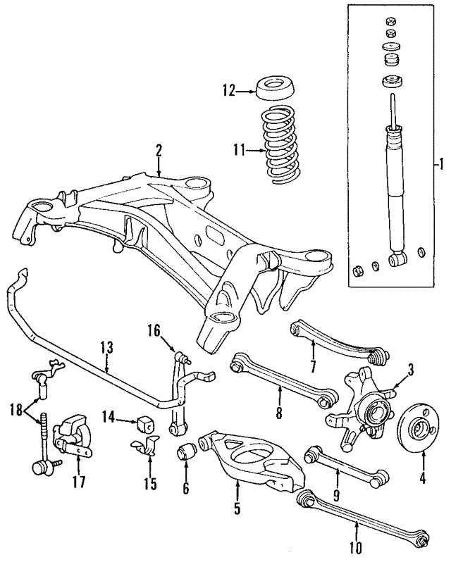 Genuine Oe Mercedes Benz Rear Lateral Arm 210 350 33 06