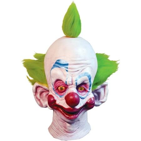 Killer Klown Shorty Mask Adult Halloween - Smiley Killer Mask