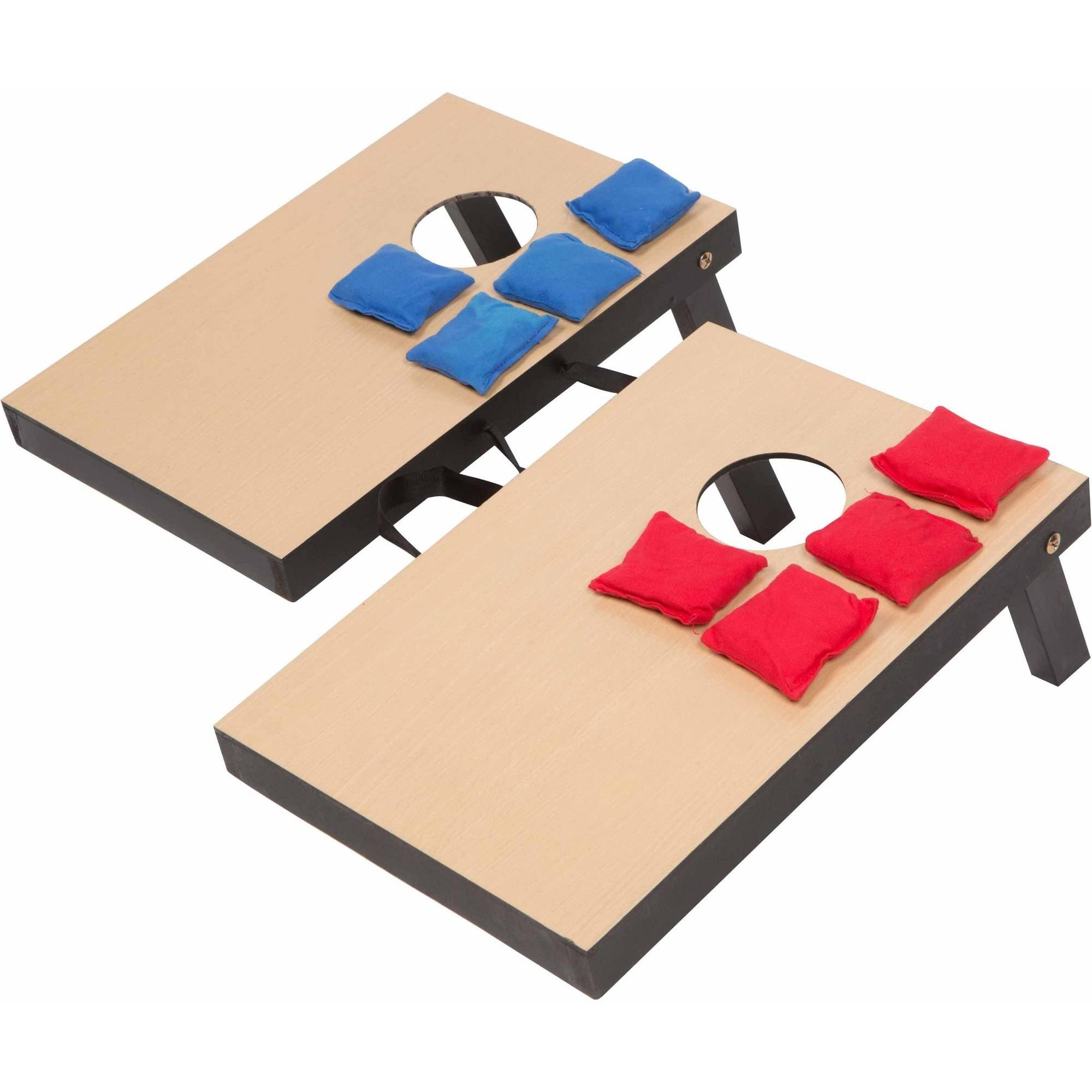"Trademark Innovations Miniature Indoor Desktop Bean Bag Toss Cornhole Game, 10-1/4"" x 15-1/2"""