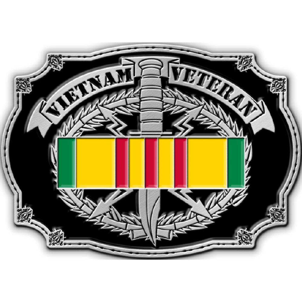 Vietnam Veteran Belt Buckle Enamel