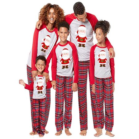Mom Santa Claus Tops Blouse Pants Family Pajamas Sleepwear Christmas Outfits Set](Christmas Family Outfit)