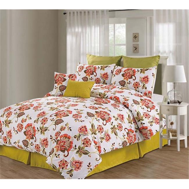 Luxury Home Berkeley Comforter Set, Queen - 8 Piece Set