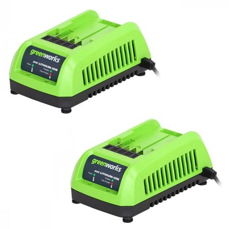 GreenWorks 2 Pack OEM Replacement Lithium-Ion Chargers 31101830-2PK